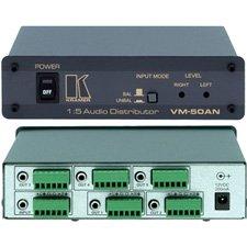Balanced Audio Distribution Amplifier Stereo (Kramer VM-50AN 1:5 Balanced & Unbalanced Stereo Audio Distribution Amplifier)