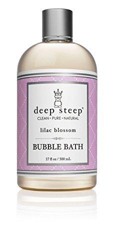 Deep Steep Classic Bubble Bath, Lilac Blossom, 17 Fluid Ounce