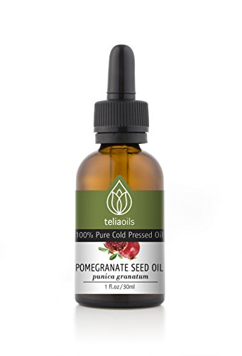 1 Oz Pomegranate Seed Oil, Cold Pressed - 100% Pure, Unrefined, Extra Virgin. Pharmaceutical Grade