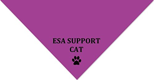 """Emotional Support Cat"" Bandana - Pink Register My Service Animal LLC CBPK"