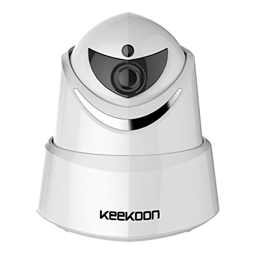 KEEKOON WiFi IP Camera, 1080P HD Security Wireless Surveillance Camera Home System Monitor for Baby Elder Pet, Pan/Tilt/Zoom, Two-Way Audio, Night Vision Micro SD Card Slot (White)