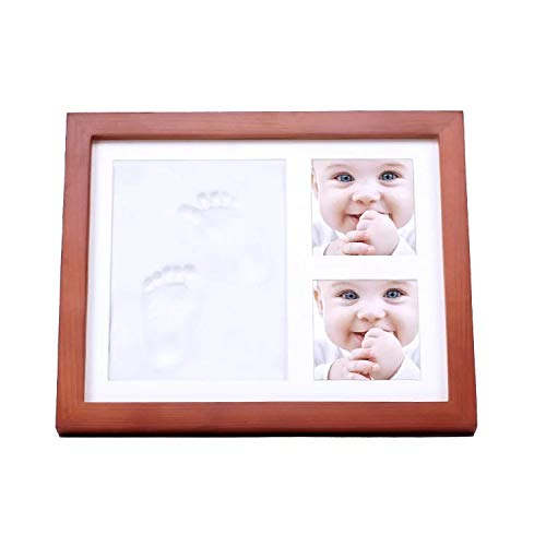 ASTA Marco Footprints Baby, Cornici per foto Baby Gift for Life, Wooden Frame Gifts for Newborns Estela Office Store