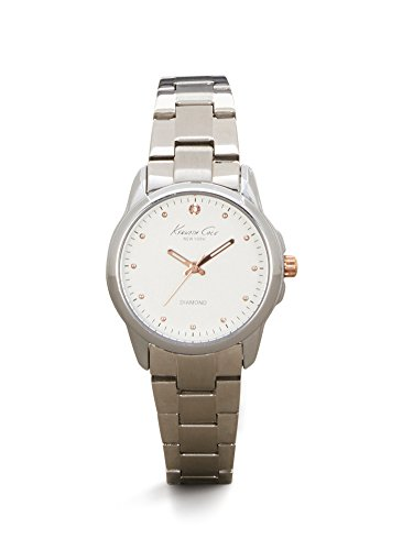 Kenneth Cole New York Women's 'Diamond Rock Out' Quartz Stainless Steel Dress Watch, Color:Silver-Toned (Model: 10026478)