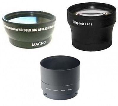 Wide Lens + Tele Lens + Tube Adapter bundle for Nikon CoolPix P510 Camera by photo High Quality