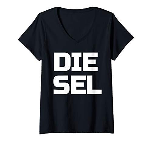- Womens DIESEL Large 4X4 Diesel Power Roll Coal Diesels V-Neck T-Shirt
