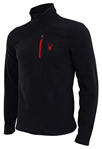 Spyder Men's Transport 1/4 Zip Fleece Pull Black L
