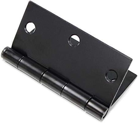 Matte Black Door Hinge 3.5 x 3.5 Inch Door Hinge with Square Corners for Interior Door and Exterior Door Use