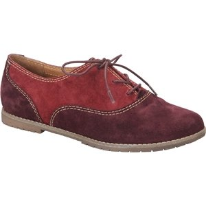 Sofft Red Shoes (Sofft Women's Alexandra Bordo/Claret Velour Cow Suede Oxford 8 M (B))