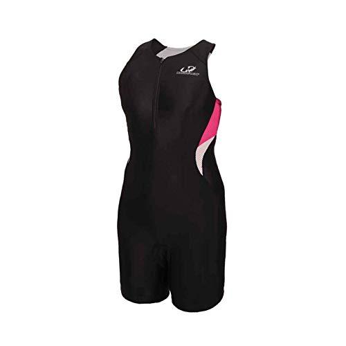 Macaquinho Triathlon Hammerhead Feminina Long Distance Wtzl1 Preto Rosa Branco Tamanho: Gg