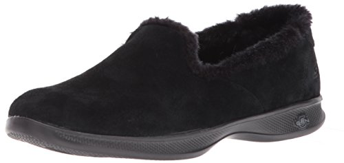 Skechers Performance Women's Go Step Lite-Fuzzies Loafer Flat,black,8 M US -