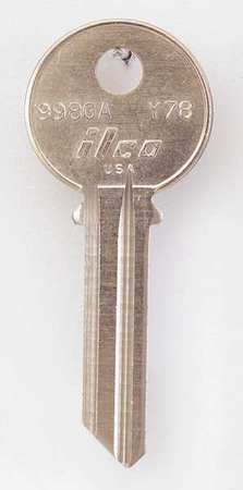 Key Blank Brass Type (Key Blank, Brass, Type Y78, 6 Pin, PK10)