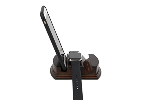 decore Bay Hardwood Mahogany Multi-Device Stand Smartphones & Smart Watches ()