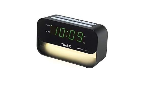 Timex Decorativa xbbu Dual Alarma Reloj: Amazon.es: Electrónica