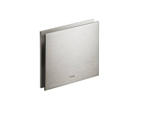 Viega 83512 Flush Plate Visign for More 100 Chrome Colored Aluminum, Chome