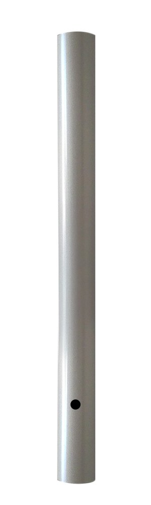 Wellite 96 Inch Outdoor Lamp Post Direct Burial Aluminum Post for Drive Way, Silver Color