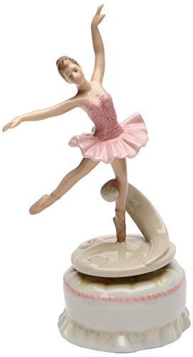 Cosmos Gifts 20866 Spinning Ballerina Musical Ceramic Figurine, 7-Inch