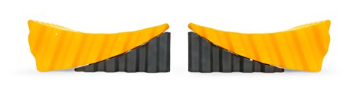 "Camco RV Curved Leveler with Chock - 2 Pack - Easy Drive-on Leveler Adds Up to 4"" in Height (44425)"