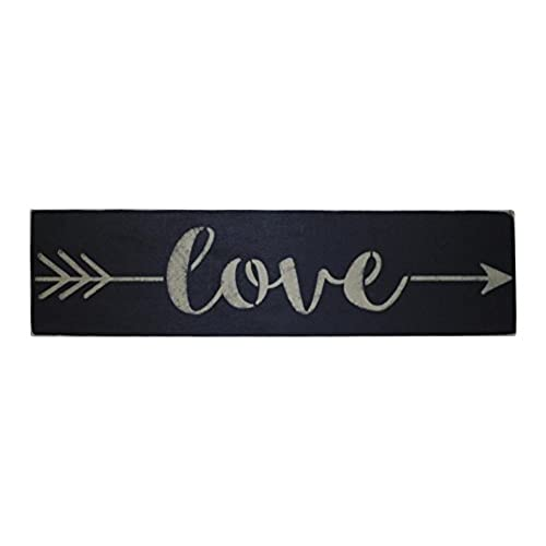 Love Arrow Primitive Style Decorative Wood Sign
