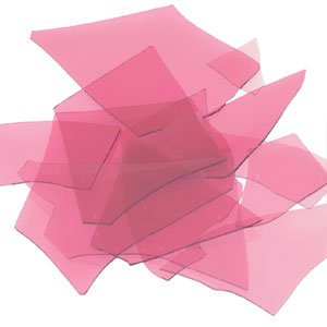 Bullseye COE 90 Confetti Cranberry Pink Fusible Glass Full Jar 4 Oz Bu131184
