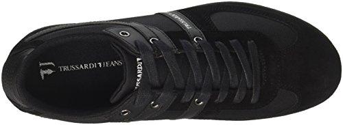 Jeans Basso 77a00068 a Nero Trussardi Collo Sneaker Uomo dgXqxU5wU