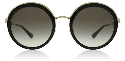 Prada Sunglasses Round - Prada Women's Round Sunglasses, Black/Grey, One