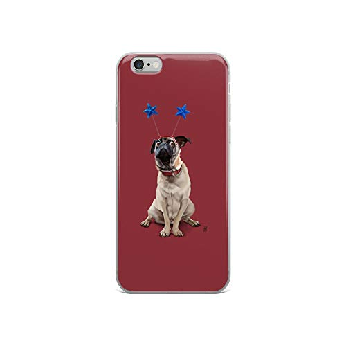 iPhone 6/6s Case Anti-Scratch Creature Animal Transparent Cases Cover A Pug's Life Colour Animals Fauna Crystal Clear