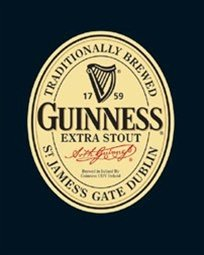 (Guinness Label Alcohol Irish Beer Drinking Poster 16 x 20 inches)