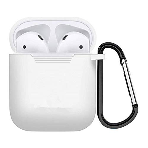 ZALU Compatible for AirPods Case with Keychain, Shockproof Protective Premium Silicone Cover Skin for AirPods Charging Case 2 & 1 (AirPods 1, - Premium Silicon Case