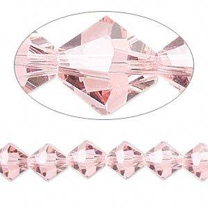 Swarovski Crystal 5328 8mm XILION Light Rose (Pink) Bicones - 12 Pack ()