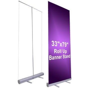 33'' x 79'' Economy Rollup Retractable Banner Stand by Unitech