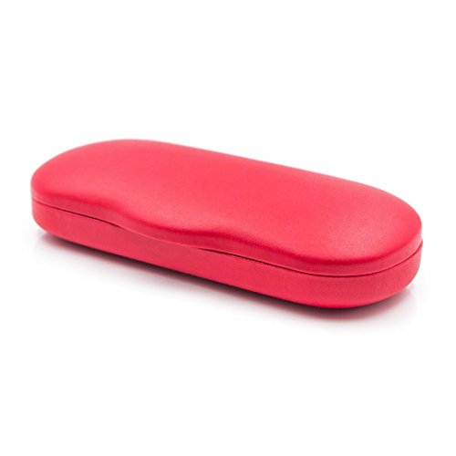 Hard Eyeglass Case & Sunglasses Case With Microfiber Cleaning Cloth   Men & Women   AS196 - Trendy Cases Glasses