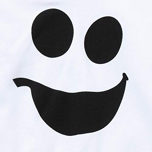 cappuccio Halloween Bambini corta messi Pullover Costume Neonato Top Bianca Halloween fumetto Pantaloni BYSTE con Manica Bambina lunghi 2pcs del Camicie Felpa fantasma PgAwSx6