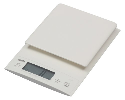 TANITA Digital cooking scale 【Also useful for making bread 0.1g unit High accuracy Weighing up to 3kg】 White KD-320-WH - Kd Units