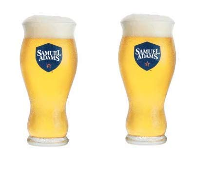 New 22 Ounce Extra-Large Samuel (Sam) Adams Perfect Pint Set of 2 ()