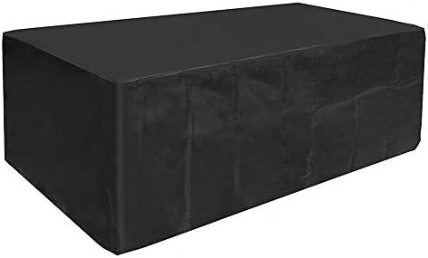 Kbnian Fundas Impermeables para Mesa, Cubre Mesa Jardín Negro, Oxford Fundas para Proteger Muebles de Jardín, Patio, Terraza, Interior(200 x 160 x 70CM): Amazon.es: Grandes electrodomésticos