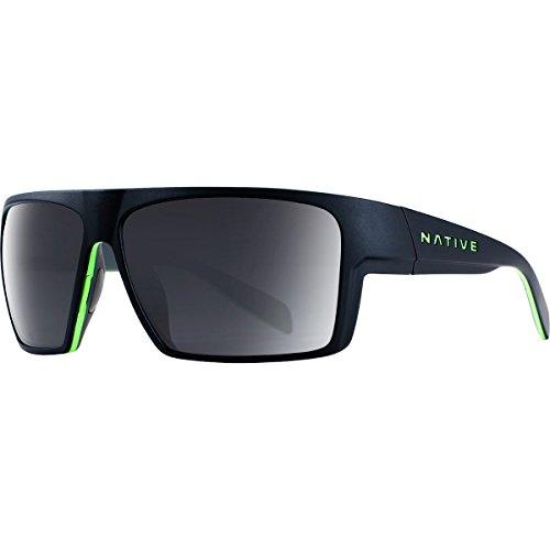 Native Eyewear Eldo Sunglass, Matte Black/Lime/Dark Gray,