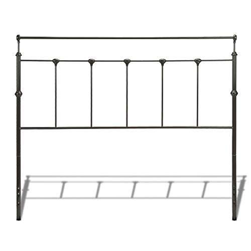 Leggett & Platt Winslow Metal Headboard Panel with Castings and Straight Top Rails, Mahogany Gold Finish, King