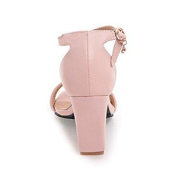 LvYuan Mujer Sandalias Zapatos formales Semicuero Primavera/Otoño Verano Cumpleaños Fiesta Diario Zapatos formales Tacón Robusto Negro Beige Rosa beige