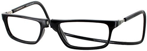 Clic Executive Single Vision Full Frame Designer Reading Glasses, Black, - Frames Glasses Vision