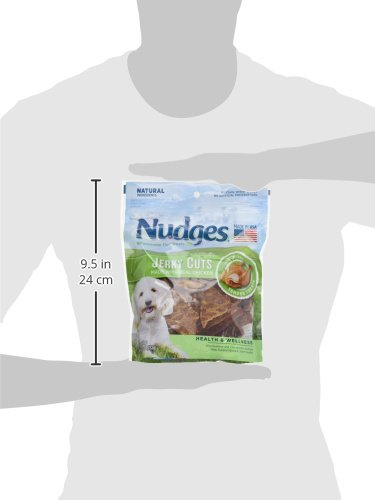 Nudges Health Wellness Chicken Jerky Dog Treats, 10 oz by Nudges (Image #8)