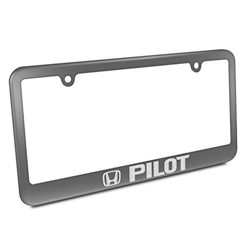 Honda Pilot Gray Metal License Plate Frame