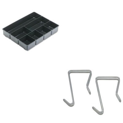 KITALECH1SRRUB11906ROS - Value Kit - Best Single Sided Partition Garment Hook (ALECH1SR) and Rubbermaid Extra Deep Desk Drawer Director Tray (RUB11906ROS)