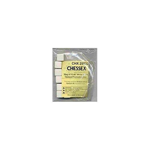 贅沢 Chessex Chessex Special White Dice: White Opaque Blank d6 (10) (10) B001S6UTA6, デジタルランド:839ea542 --- cliente.opweb0005.servidorwebfacil.com