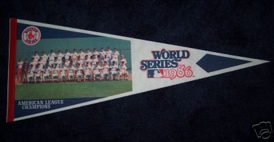 Vintage Boston RED SOX 1986 American League Champions World Series Photo Pennant