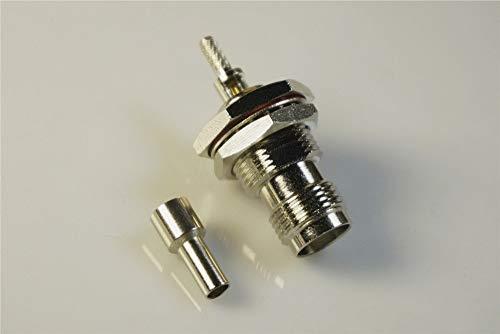 - Gimax 2 pcs Bulkhead TNC Jack RF Coaxial Connector DIN Female Receptacle Crimp Cable RG174 RG188 RG316