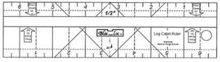 Bloc Loc~Log Cabin Ruler 2 /& 3 Acrylic Ruler