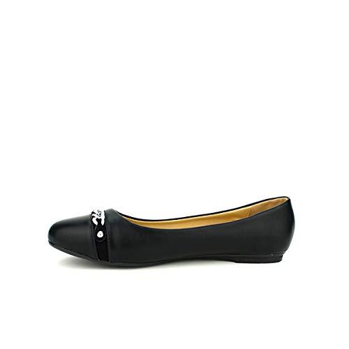 Noire Ballerine Chaîne Chaussures Noir Cinks Cendriyon Femme 5xSCw7BTxq