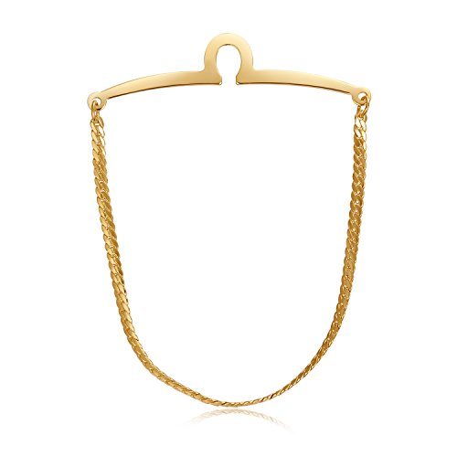 Yoursfs 18K Gold Plated tie ch