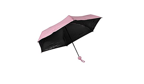 Mini Pocket Umbrella Anti UV Compact Fast Drying With Capsule Case Pink