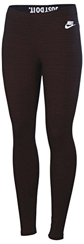 Nike Women's Leg A See Allover Print Sport Casual Tights-Maroon/Offblack-Medium